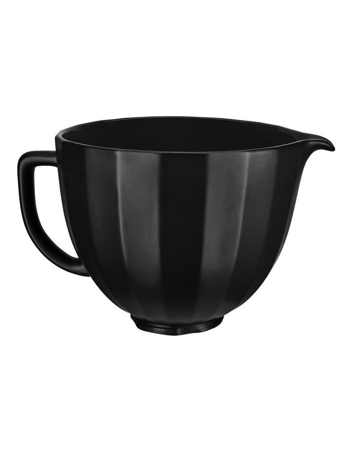 4.7L Shell Ceramic Bowl for Tilt Head Stand Mixer Black 5KSM2CB5PBS image 3