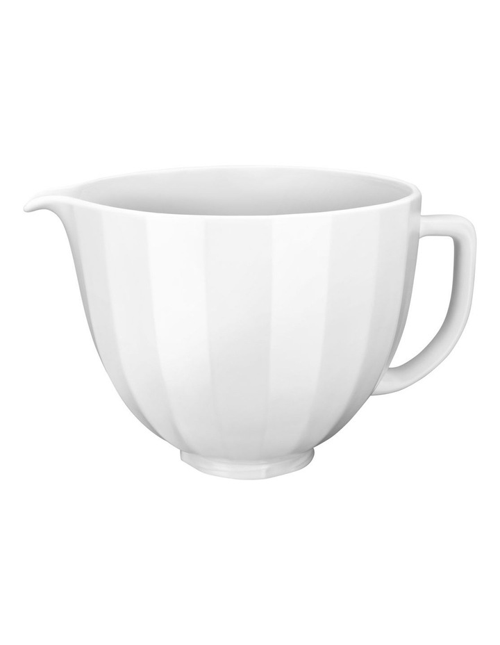 4.7L Shell Ceramic Bowl For Tilt Head Stand Mixer White 5KSM2CB5PWS image 1