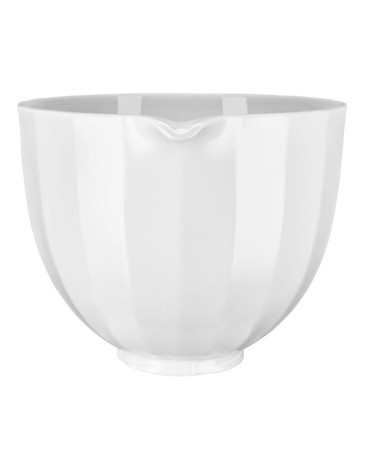 4.7L Shell Ceramic Bowl For Tilt Head Stand Mixer White 5KSM2CB5PWS image 2