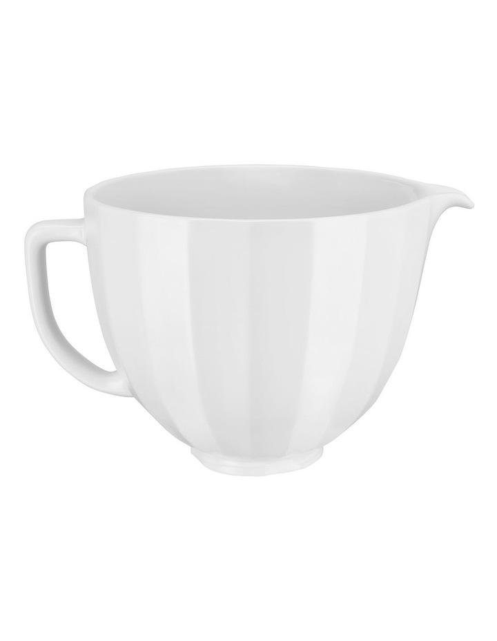 4.7L Shell Ceramic Bowl For Tilt Head Stand Mixer White 5KSM2CB5PWS image 3