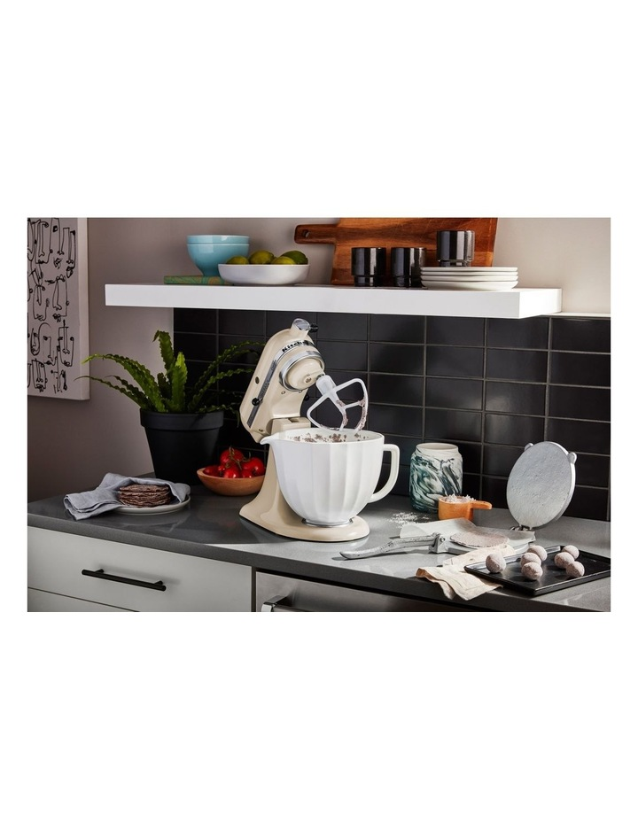 4.7L Shell Ceramic Bowl For Tilt Head Stand Mixer White 5KSM2CB5PWS image 4