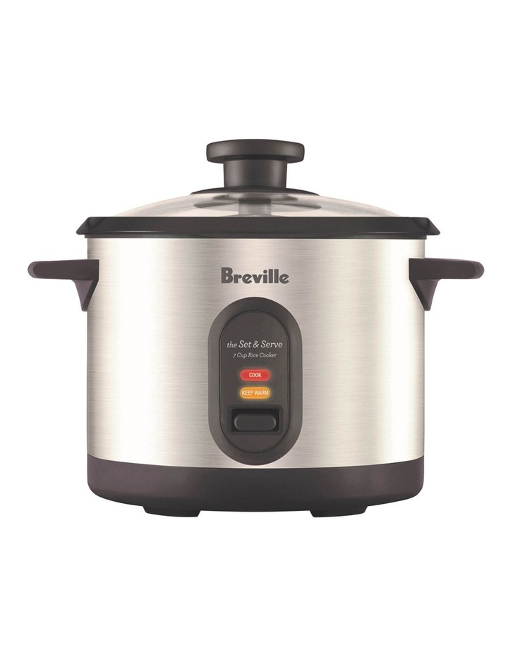 The Set And Serve Rice Cooker: Stainless Steel BRC310BSS image 1