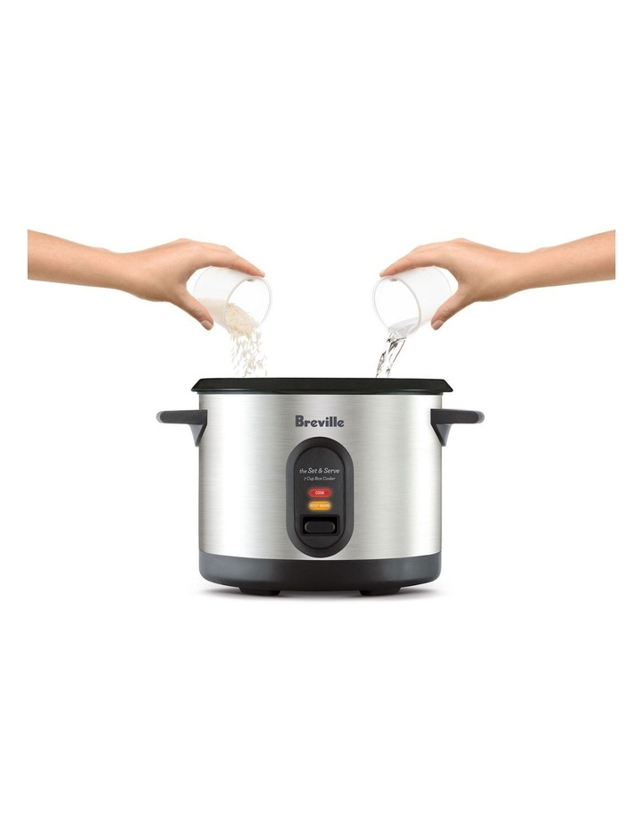 The Set And Serve Rice Cooker: Stainless Steel BRC310BSS image 3