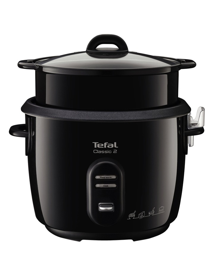 Classic Sparkling Rice Cooker Black 700W image 1