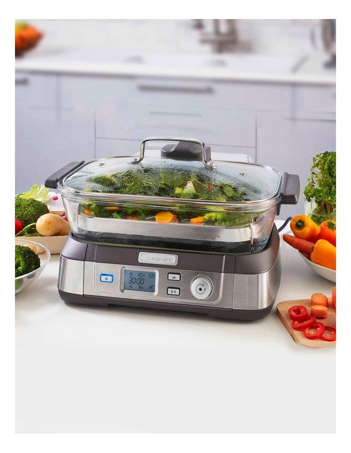 Cook Fresh Digital Glass Food Steamer in Silver STM-1000XA image 2