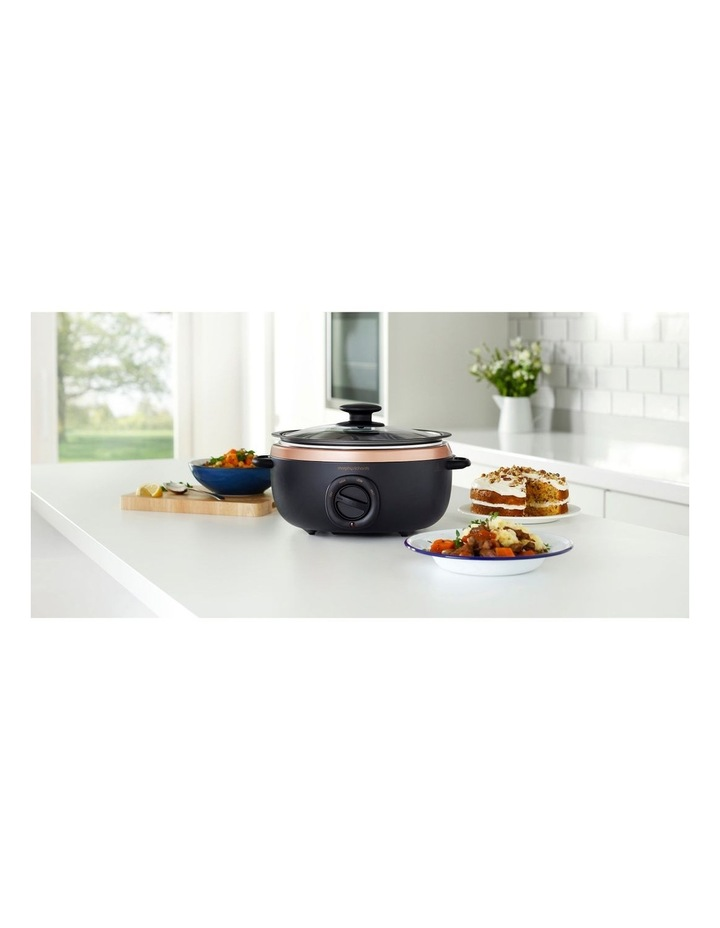 3.5L Sear & Stew Slow Cooker Black with Rose Gold 460016 image 2
