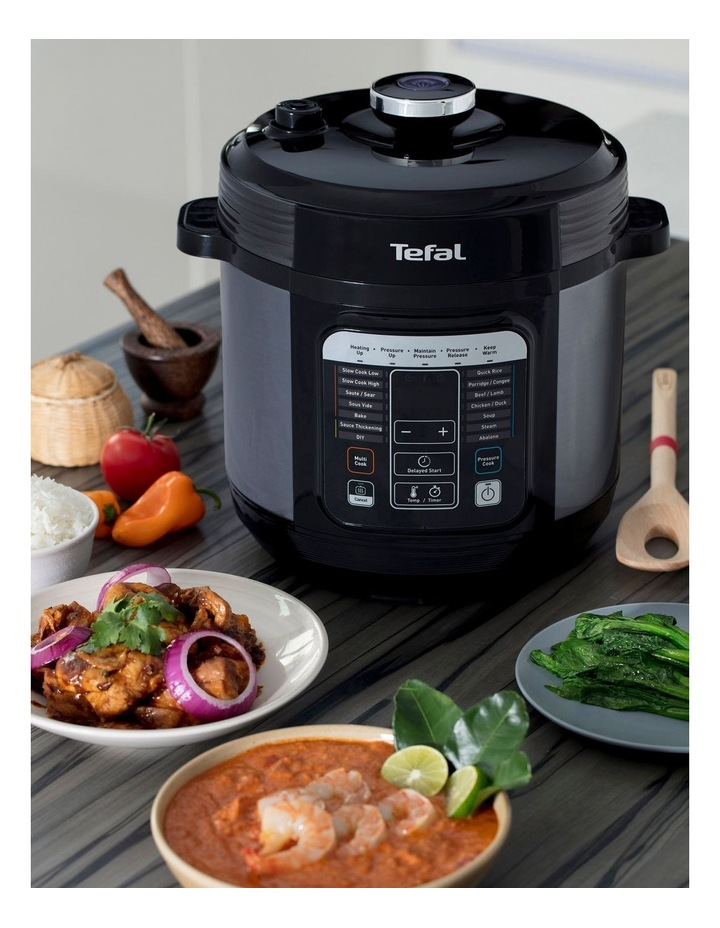Tefal Home Chef Smart Multicooker Black Silver Cy601 Myer