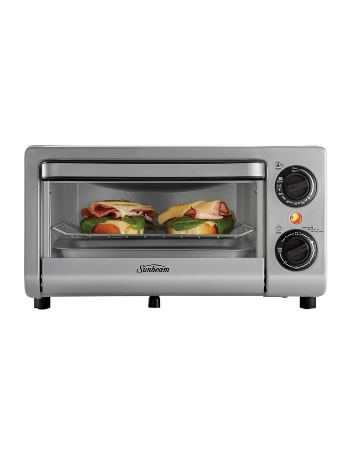 Mini Bake & Grill Compact Oven in Silver COM1000SS image 1
