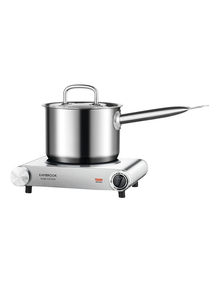Single Electric Hotplate Brushed Stainless Steel KHP110BSS image 2