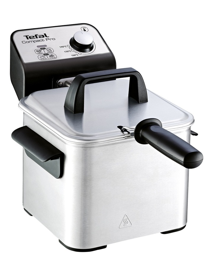 Compact Pro Deep Fryer: Silver image 1