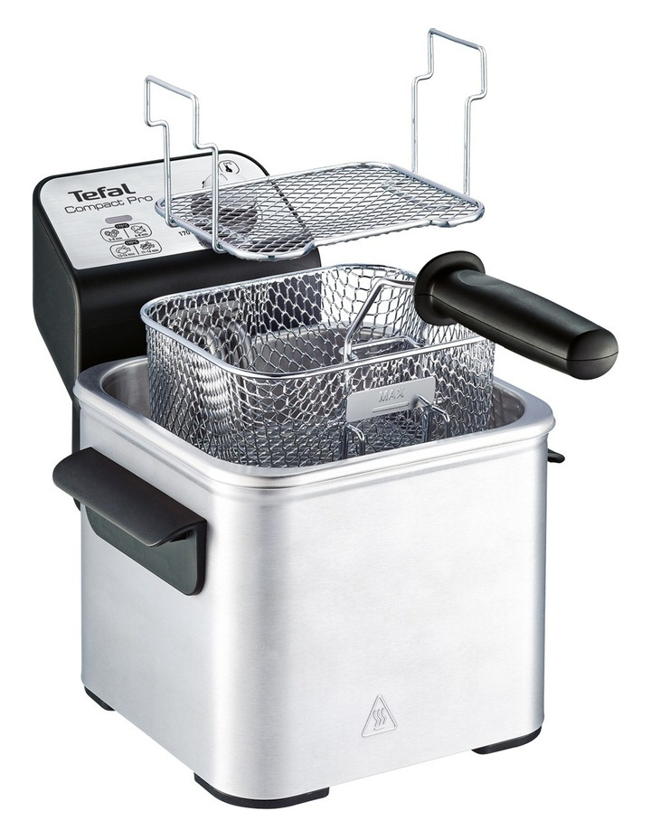 Compact Pro Deep Fryer: Silver image 3