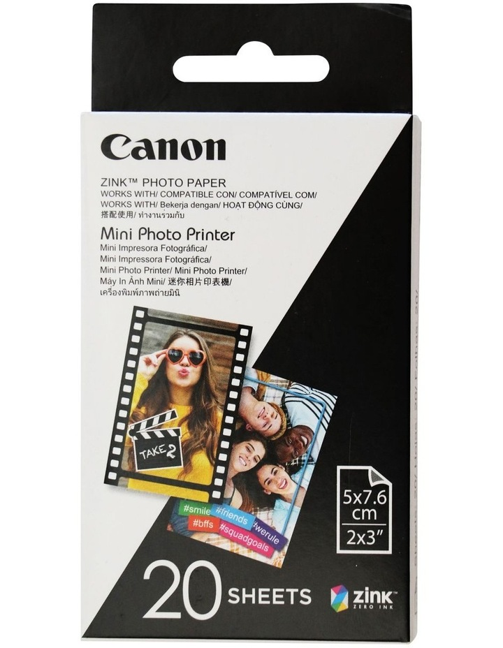 Canon Mini Photo Printer Paper - 20 Sheets image 1