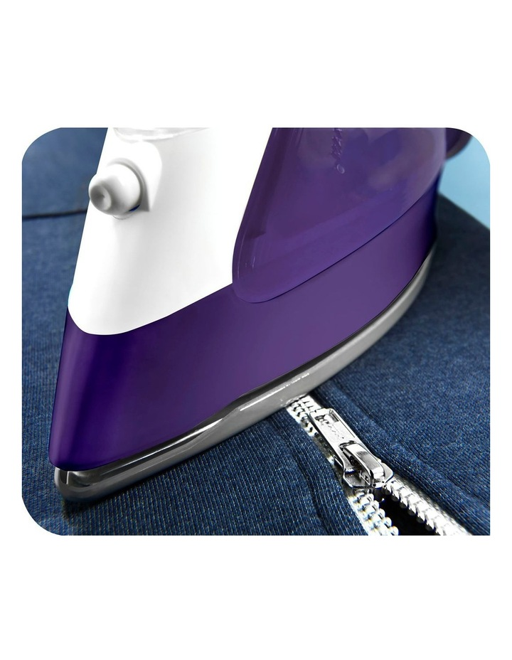 Ultraglide, Auto Shut off Steam Iron: Purple/White FV4042 image 4