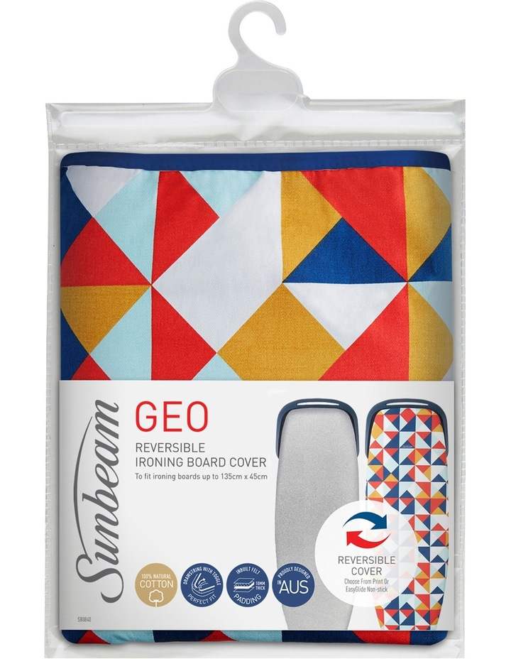 SB0840 Geo Reversible Ironing Board Cover for Ironing Boards up to 135cm by 45cm image 1