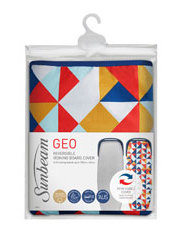 Sunbeam - SB0840 Geo Reversible Ironing Board Cover for Ironing Boards up to 135cm by 45cm