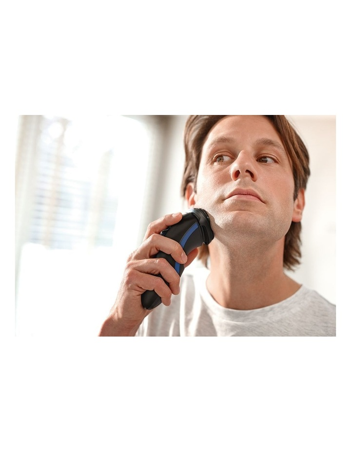 Series 1000 Dry Shaver & Trimmer Black/Blue S1510/04 image 4