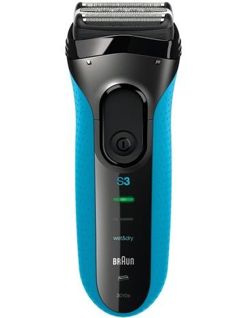 Braun3010 Series 3 Mens Wet Dry Foil Shaver Black Blue Braun 3010