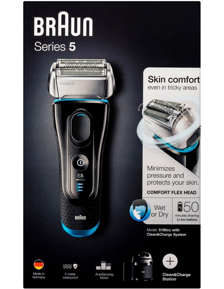 Series 5 Foil Shaver With Clean & Renew Black 5190CC image 3