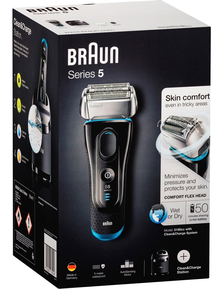 Series 5 Mens Electric Foil Shaver with Clean & Renew unit 5190cc image 4
