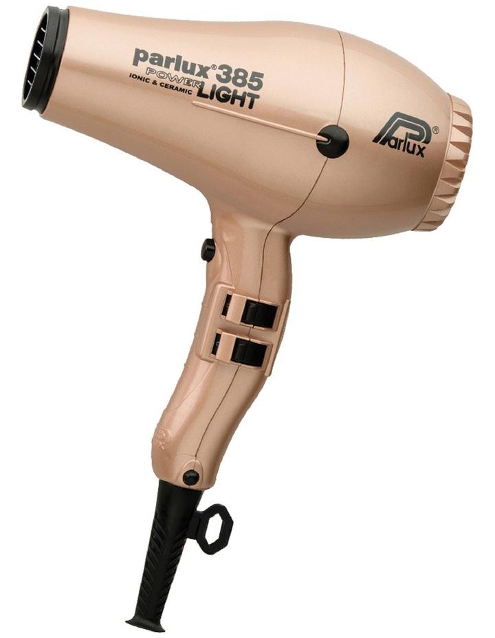 385 Power Light Ceramic & Ionic Hair Dryer: Light Gold 149516 image 1