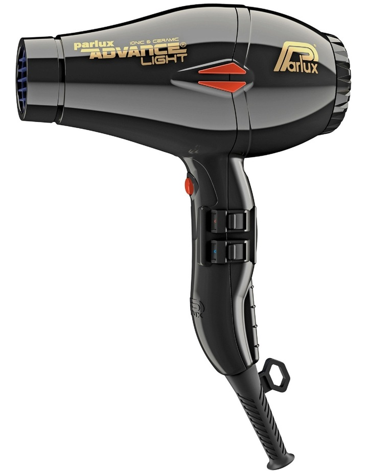 Advance Light Ionic & Ceramic hair dryer: Black 150086 image 1