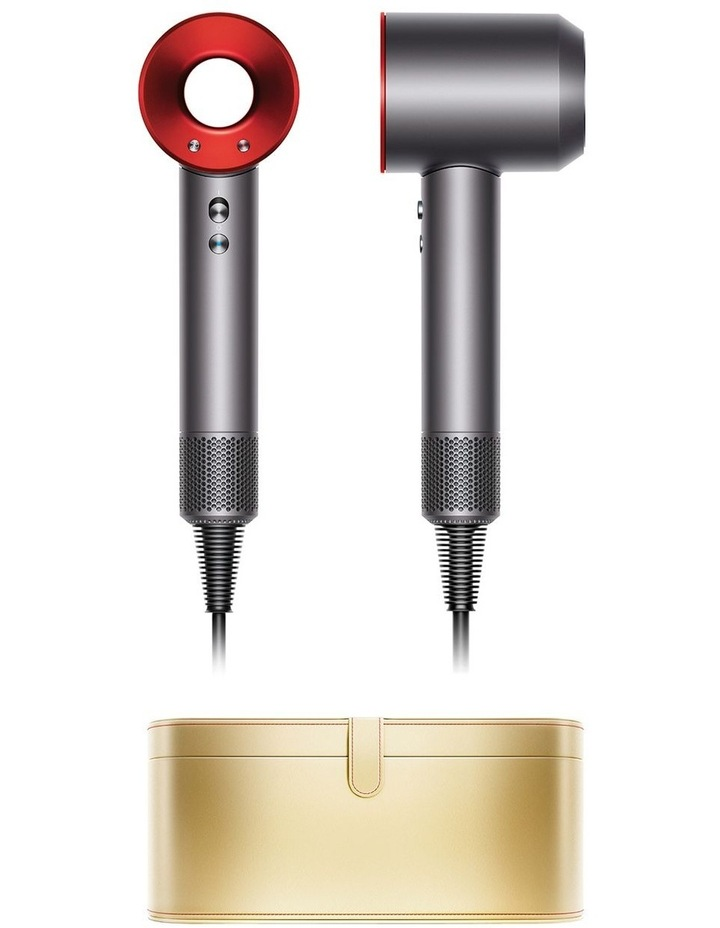 Supersonic Red/Iron hair dryer with gold presentation case image 1