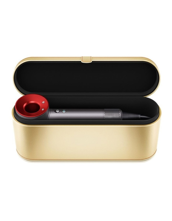 Supersonic Red/Iron hair dryer with gold presentation case image 2