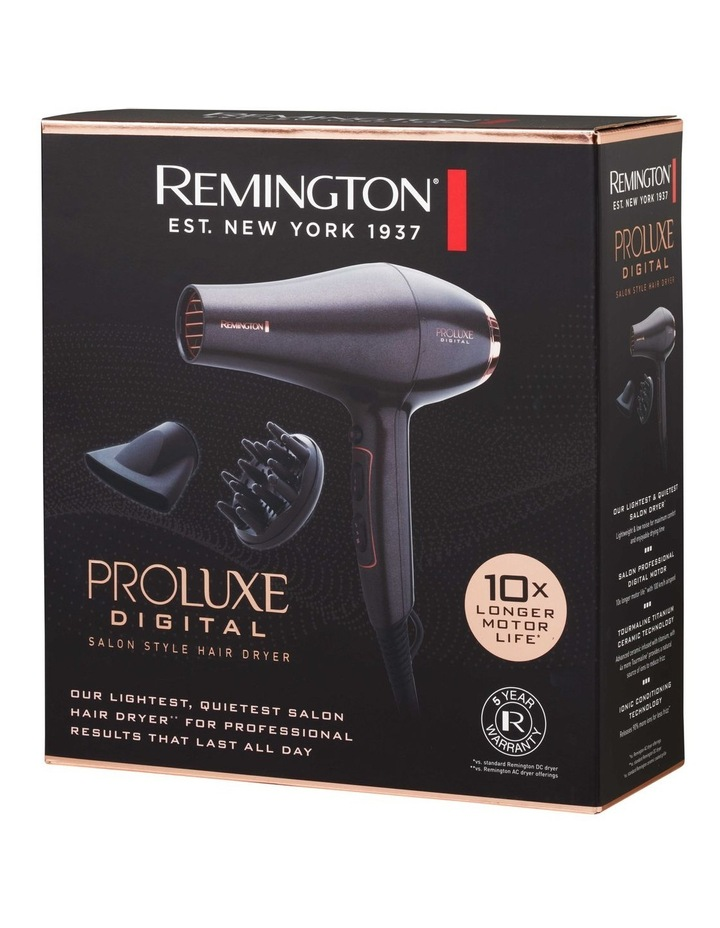 Proluxe Digital Hair Dryer in Black/Rose Gold BD7000AU image 7