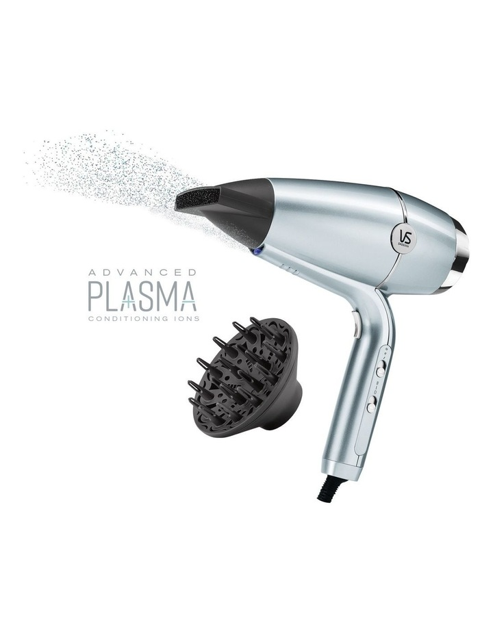 Hydro Smooth Fast Dry Hair Dryer Blue/Silver VSD5573A image 1