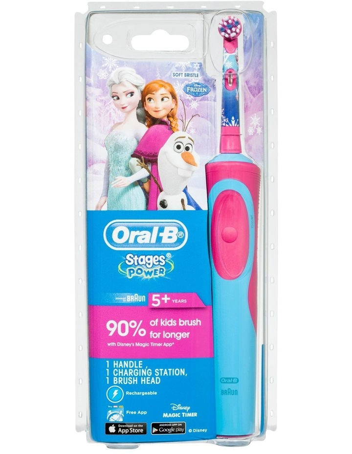 Kids Frozen Power electric toothbrush White/Pink VITALITYFRZ image 1