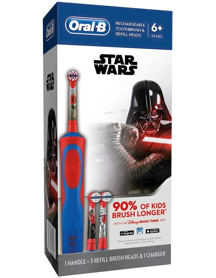 Star Wars Toothbrush With 3 Refills Blue/Red image 1