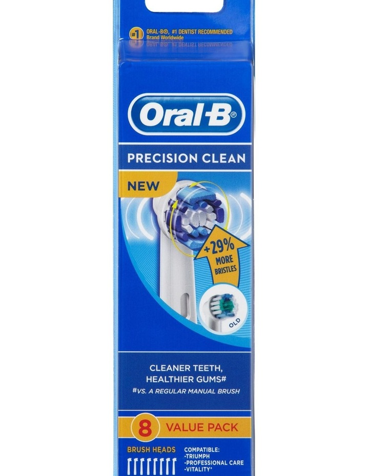 Oral B Precision Clean EB20-8 Replacement Electric Toothbrush Head - 8 Pack image 1