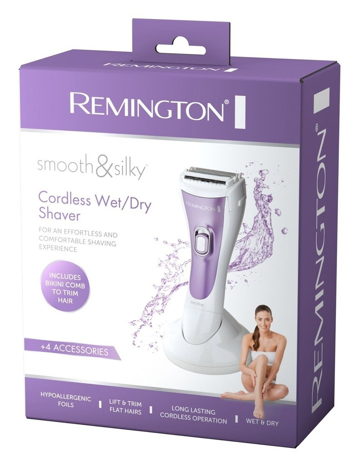 Smooth & Silky Cordless Wet/Dry Shaver White/Purple WDF4829AU image 5