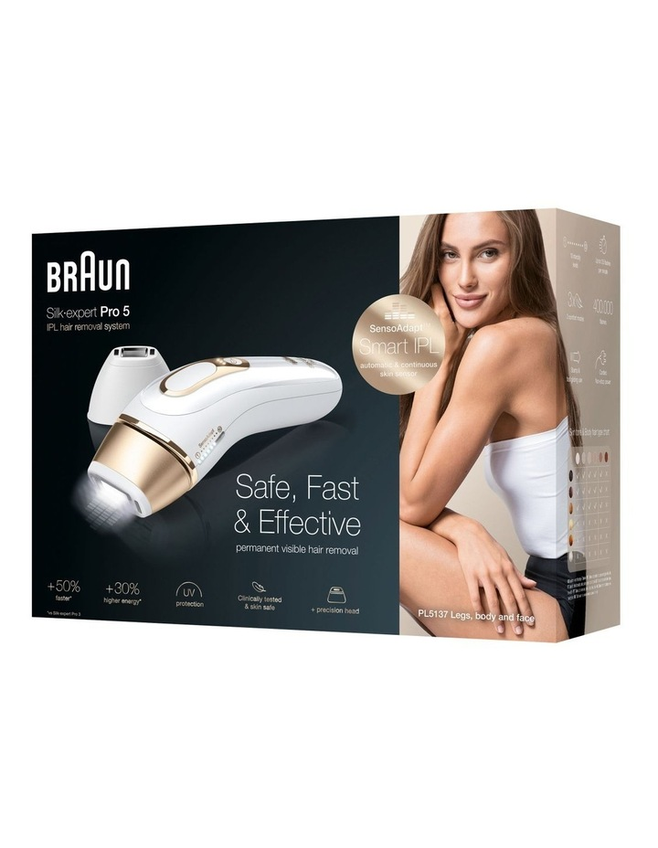 Expert Pro 5 IPL Hair Removal Device White/Gold PL5137 image 6