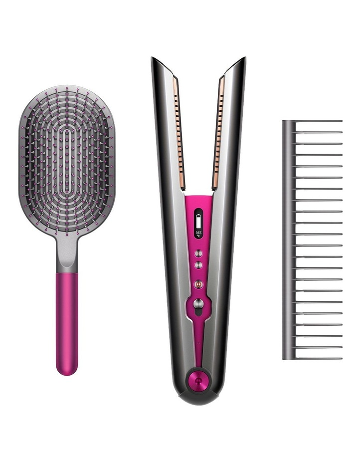 Special Gift Edition Corrale Hair Straightener With Dyson-Designed Styling Set Nickel/Fuchsia 323025-01 image 1