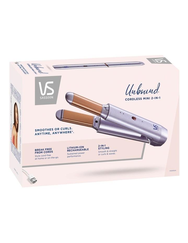 Unbound Cordless 2-in-1 Mini Hair Styler Metallic Purple VSS300UA image 4