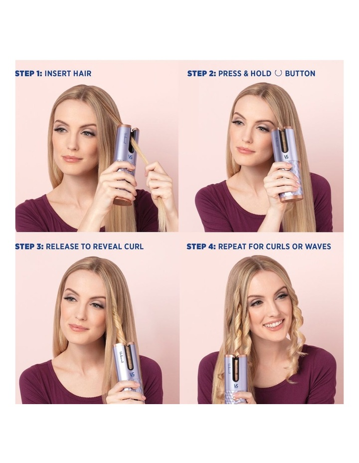 Unbound Cordless Hair Curler Metallic Purple VSC510UA image 5