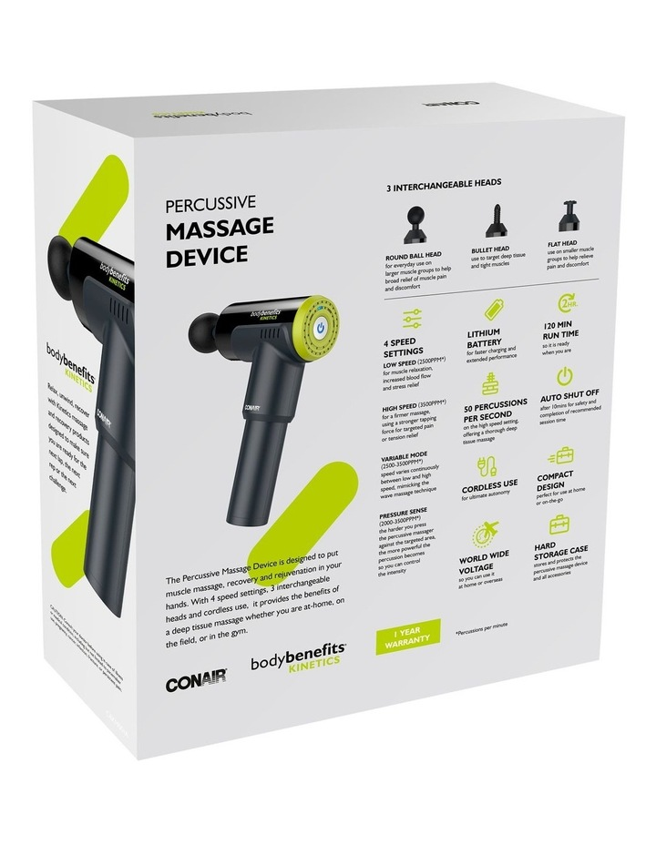 Body Benefits Kinetics Percussive Massage Device Black CBKM001A image 5