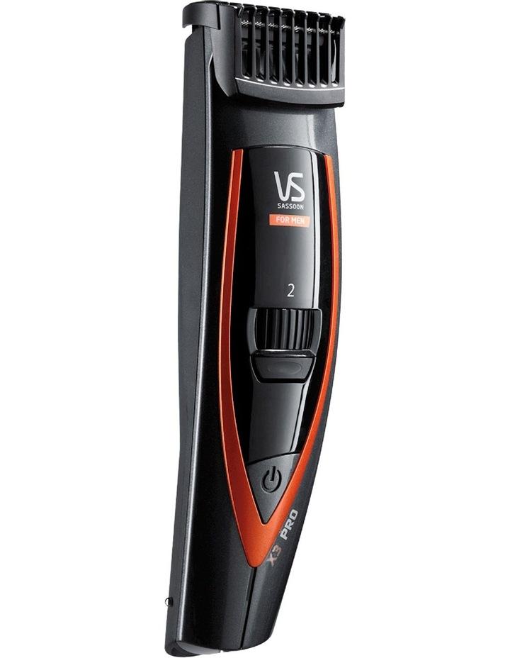 X3 Pro Beard And Stubble Trimmer: Grey/Orange VSM899A image 1