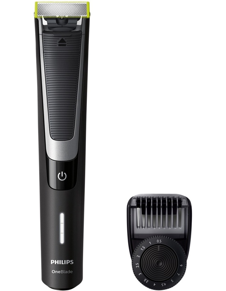 One Blade Pro Handle with Adjustable Comb - Black QP6510/20 image 1