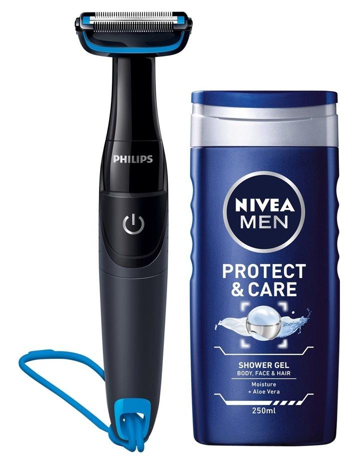 Bodygroom 1000 With Nivea Men Protect & Care Shower Gel: Black BG1024/80 image 1