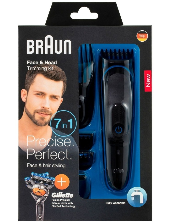 Face & Head 7-in-1 Trimming Kit Black/Blue MGK3045 image 4
