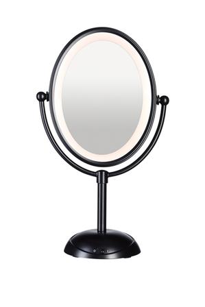 Conair - Reflections LED Lighted Mirror: Matte Black CBE51LMBA