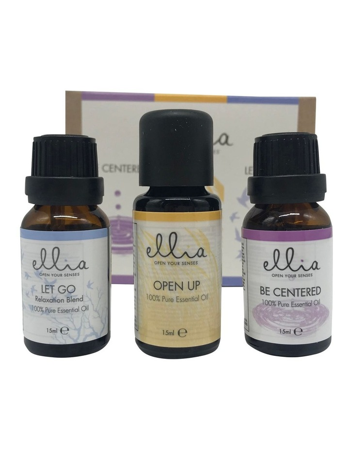 Be Centered/Let go/Open up Essential Oil 15mls Triple Pack  ARM-E015-3BLO image 1