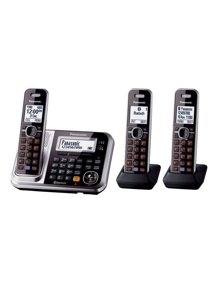 Kx-Tg7893Azs Dect Bluetooth Cordless Phone With Answering Machine Triple Pack image 1