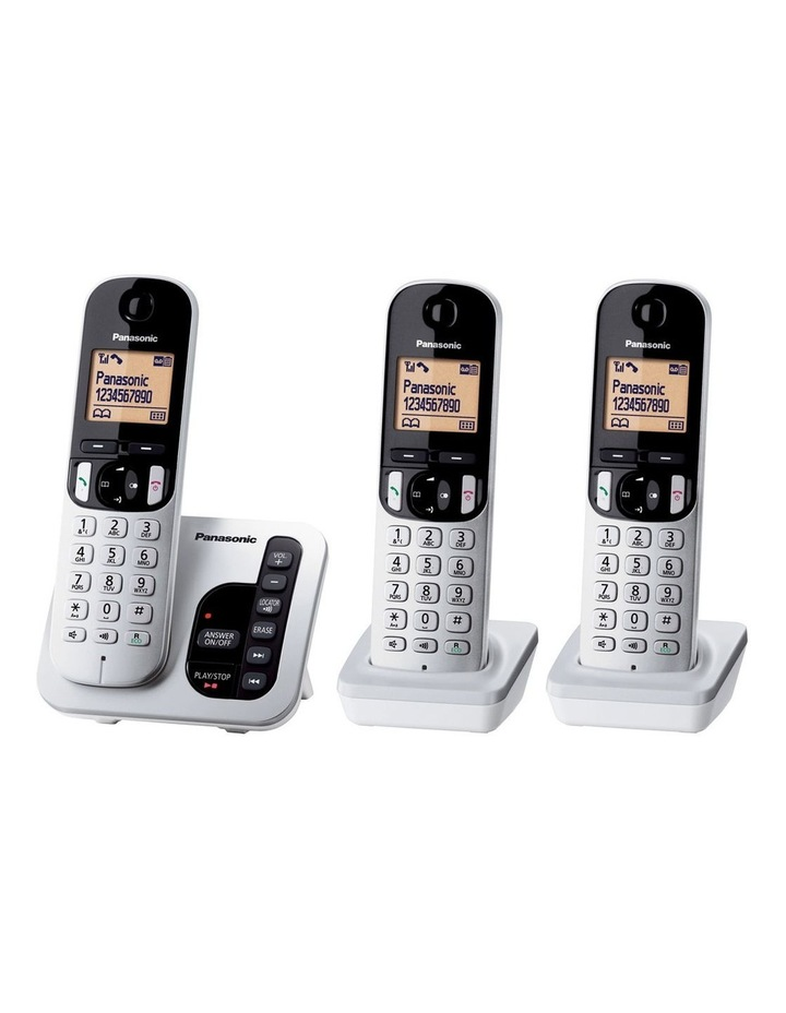 Kx-Tgc223Als Dect Cordless Phone With Answering Machine Triple Pack image 1