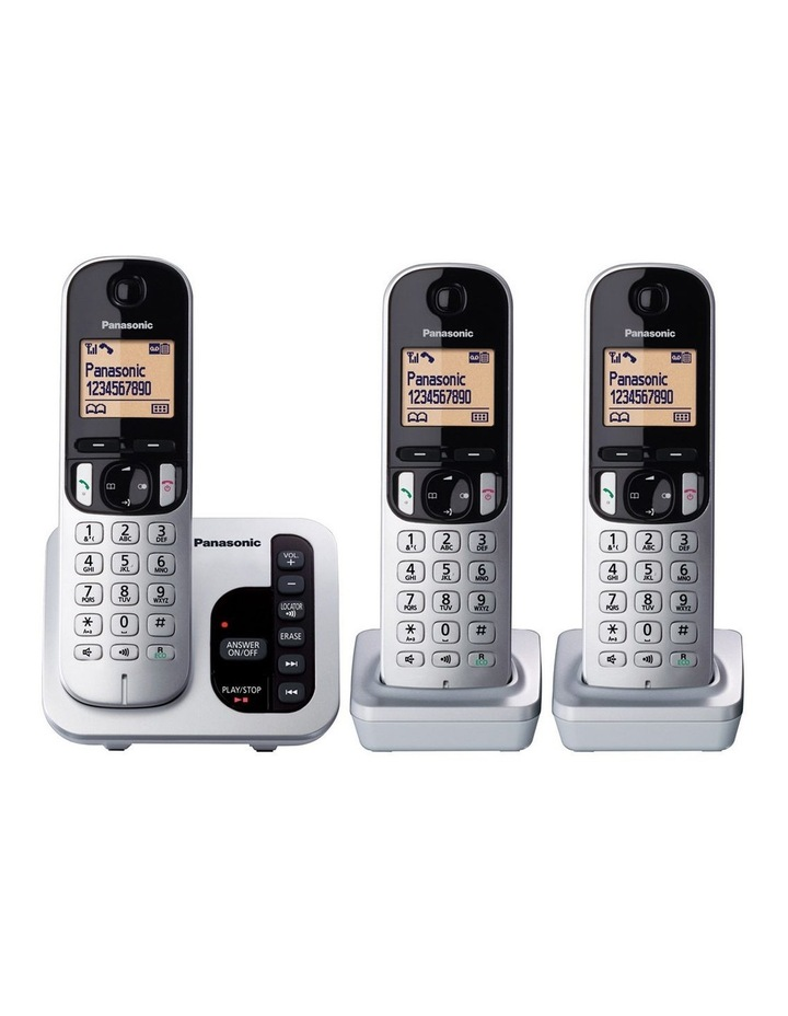 Kx-Tgc223Als Dect Cordless Phone With Answering Machine Triple Pack image 2