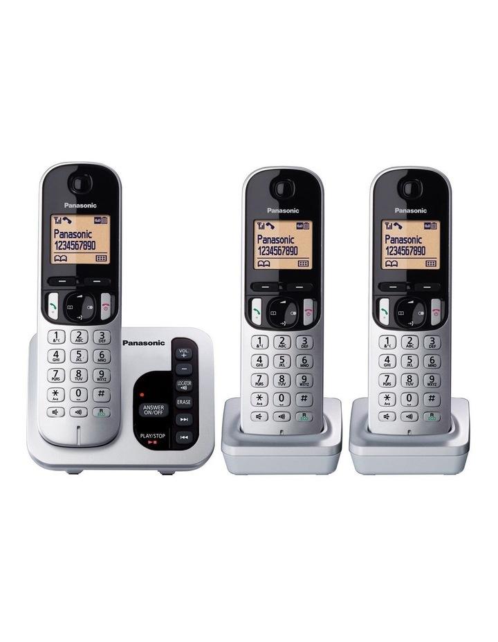 cbb728145e0b Kx-Tgc223Als Dect Cordless Phone With Answering Machine Triple Pack image 2