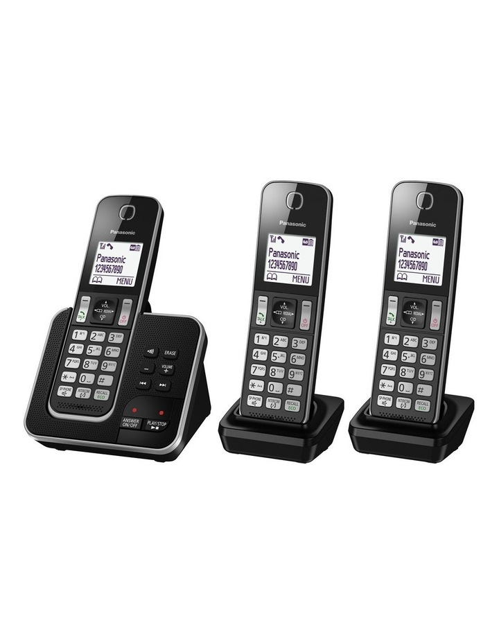 970165b25d0f Kx-Tgd323Alb Dect Cordless Phone With Answering Machine Triple Pack image 1
