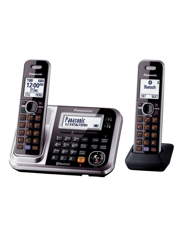 Kx-Tg7892Azs Dect Bluetooth Cordless Phone With Answering Machine Twin Pack image 1
